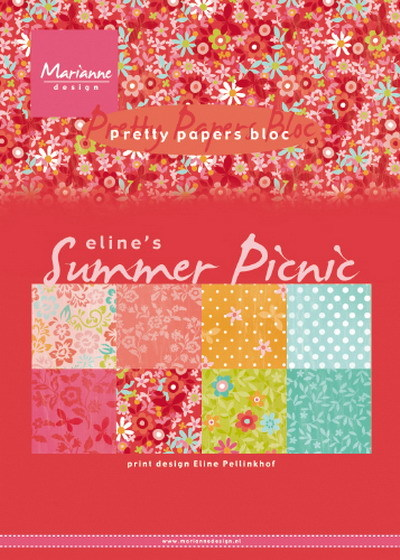 Marianne Design - Paperpack - Pretty Papers - Eline's summer picnic - PB7056