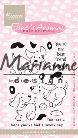 Marianne Design - Clearstamp - Eline's cute puppies - EC0177