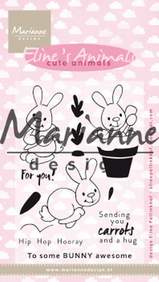 Marianne Design - Clearstamp - Eline's cute bunnies - EC0178