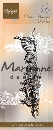 Marianne Design - Clearstamp - Tiny's border kittens - TC0873