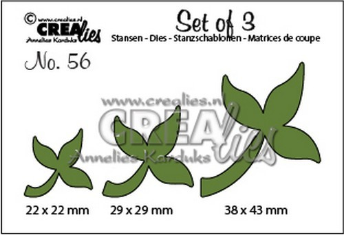 Crealies - Die - Set of 3 - Leaves10 - CLSET56