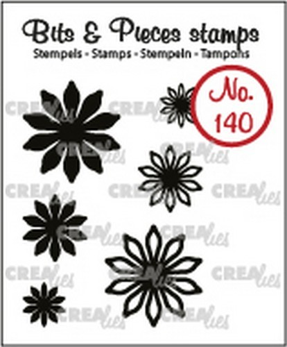 Crealies - Clearstamp - Bits & Pieces - Mini Flowers 17 - CLBP140