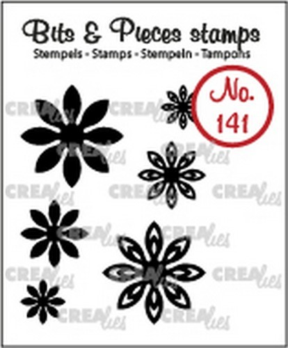 Crealies - Clearstamp - Bits & Pieces - Mini Flowers 18 - CLBP141