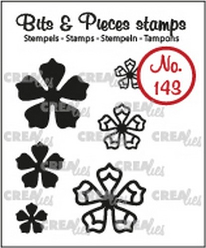 Crealies - Clearstamp - Bits & Pieces - Mini Flowers 21 - CLBP143