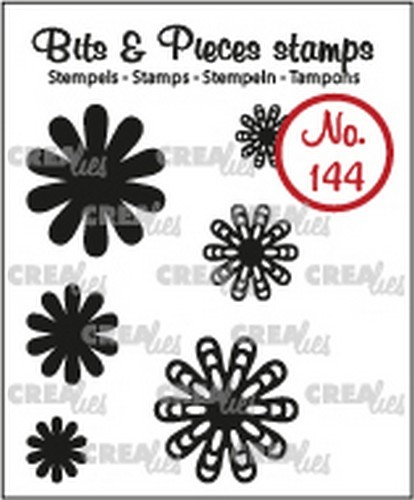 Crealies - Clearstamp - Bits & Pieces - Mini Flowers 22 - CLBP144