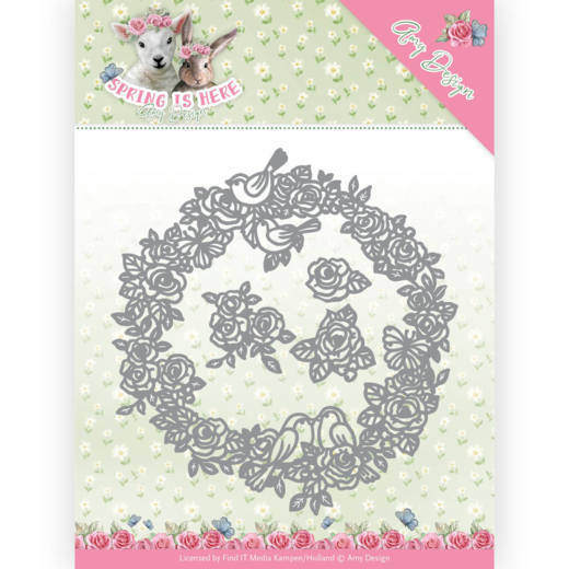 Amy Design - Die - Spring is here - Circle of Roses - ADD10166