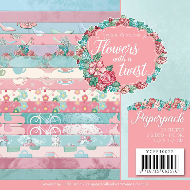Yvonne Creations - Paperpack - Flowers with a twist - YCPP10022