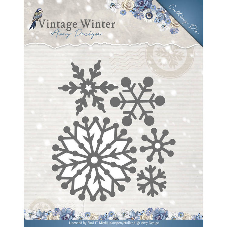 Amy Design - Die - Vintage Winter - Beautiful Snowflake - ADD10126