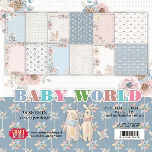 Craft & You Design - Paperpack - 152 x 152mm - Baby World - CPB-BW15