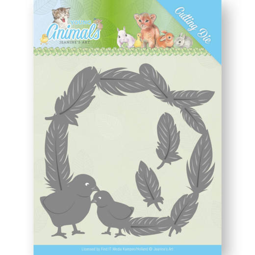 Jeanine`s Art - Die - Young Animals - Feathers all Around - JAD10067
