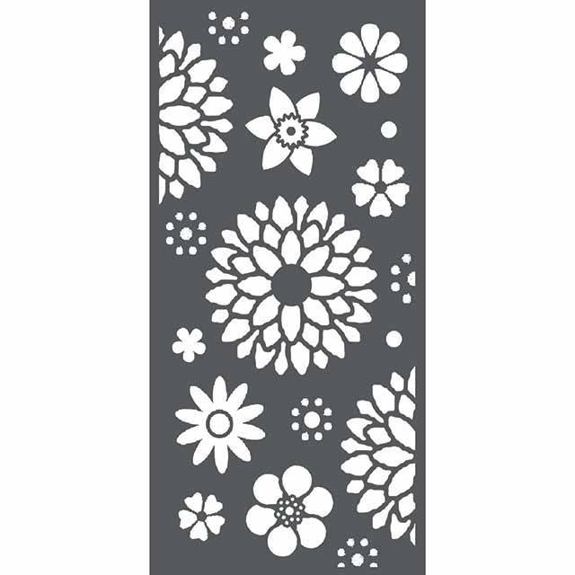 Stamperia - Maskingstencil - Texture with Flowers - KSTDL22
