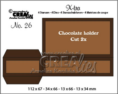 Crealies - Die - X-tra - No. 26 - Chocolate Holder - CLXtra26