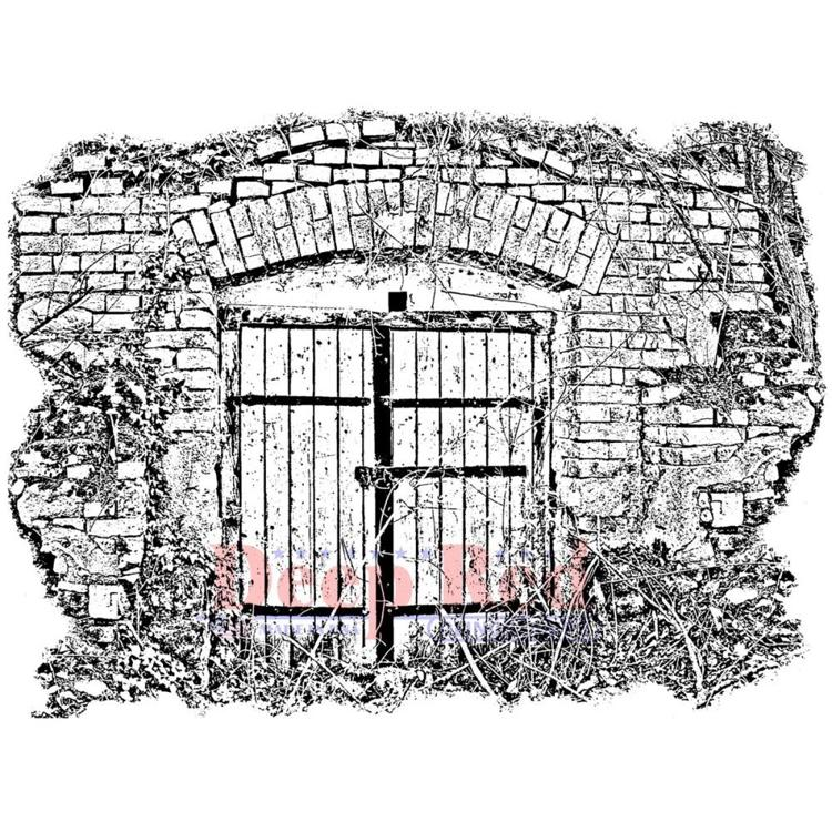 Deep Red - Cling Stamp - Secret Gate - 4X605720