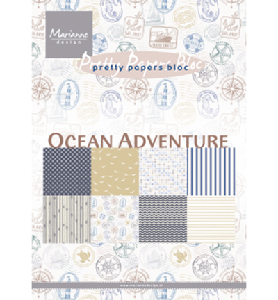 Marianne Design - Paperpack - Pretty Papers - Ocean Adventure - PK9162