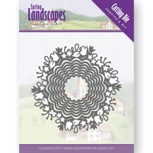 Jeanine`s Art - Die - Spring Landscapes - Spring Scalloped Circle - JAD10064