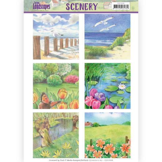 Jeanine`s Art - (3D-)Stansvel A4 - Spring Landscapes - Scenery 1 - CDS10008