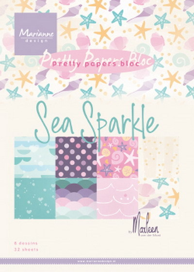 Marianne Design - Paperpack - Pretty Papers - Sea sparkle by Marleen - PK9163