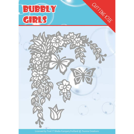 Yvonne Creations - Die - Bubbly girls - Flower Corner - YCD10167