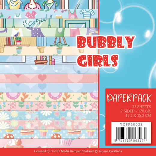 Yvonne Creations - Paperpack - Bubbly Girls - YCPP10023
