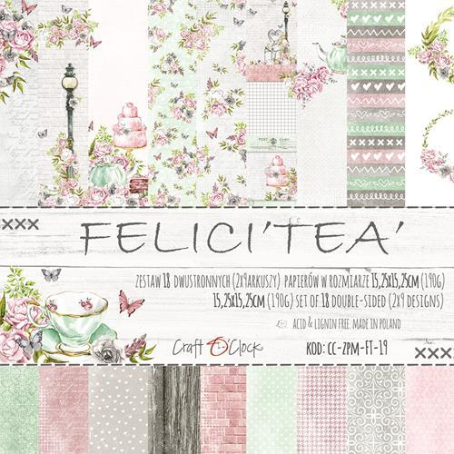 Craft O`Clock - Paperpack - Felici`tea` - CC-ZPM-FT-19