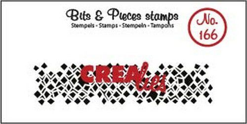 Crealies - Clearstamp - Bits & Pieces - Wonky squares (strip) - CLBP166
