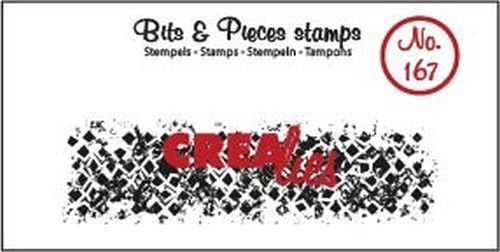 Crealies - Clearstamp - Bits & Pieces - Grunge Wonky squares (strip) - CLBP167