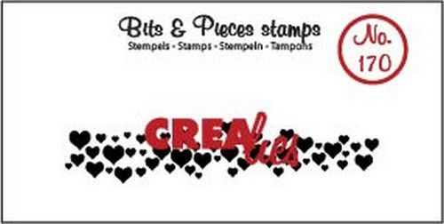 Crealies - Clearstamp - Bits & Pieces - Hearts (strip) - CLBP170