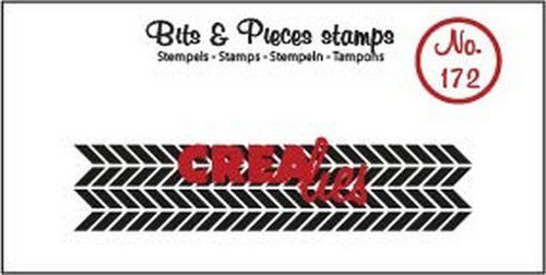 Crealies - Clearstamp - Bits & Pieces - Zigzags (strip) - CLBP172