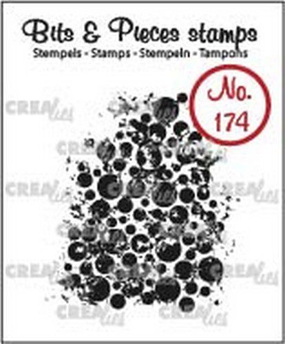 Crealies - Clearstamp - Bits & Pieces - Grunge circles - CLBP174