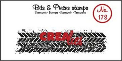 Crealies - Clearstamp - Bits & Pieces - Grunge zigzags (strip) - CLBP173