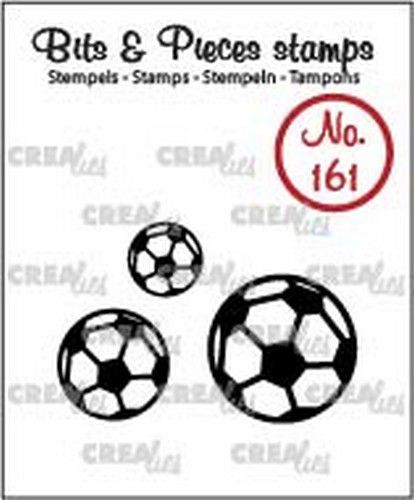 Crealies - Clearstamp - Bits & Pieces - Soccer balls - CLBP161