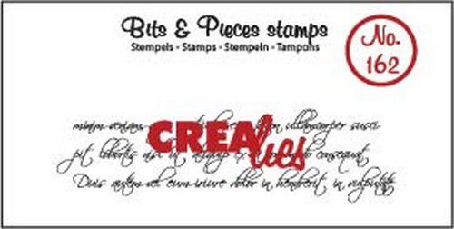 Crealies - Clearstamp - Bits & Pieces - Curly Handwriting - CLBP162