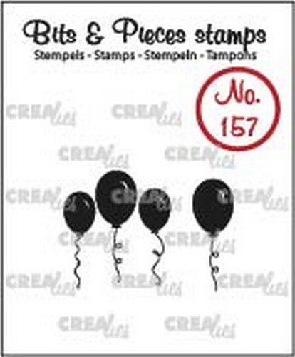 Crealies - Clearstamp - Bits & Pieces - Balloons (solid) - CLBP157