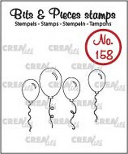 Crealies - Clearstamp - Bits & Pieces - Balloons (outline) - CLBP158
