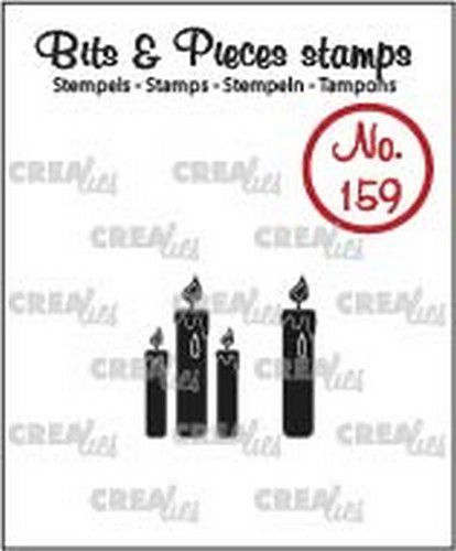 Crealies - Clearstamp - Bits & Pieces - Candles (solid) - CLBP159