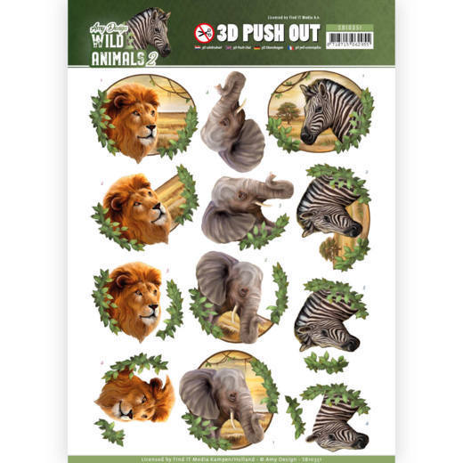 Amy Design - (3D-)Stansvel A4 - Wild Animals 2 - Africa - SB10351