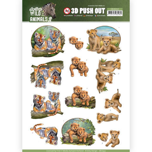 Amy Design - (3D-)Stansvel A4 - Wild Animals 2 - Twins - SB10352