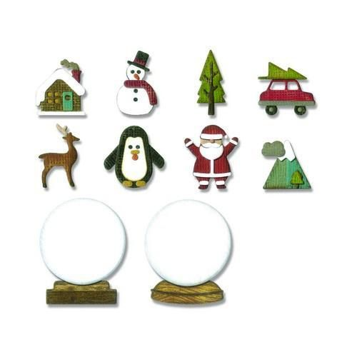 Sizzix - Die - Thinlits - Tiny Snowglobes - 663119