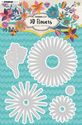 Studio Light - Die - 3D-Flowers Collection - STENCILSL178