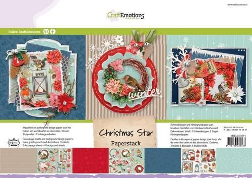 CraftEmotions - Paperpack - Christmas Star - 118040/0211