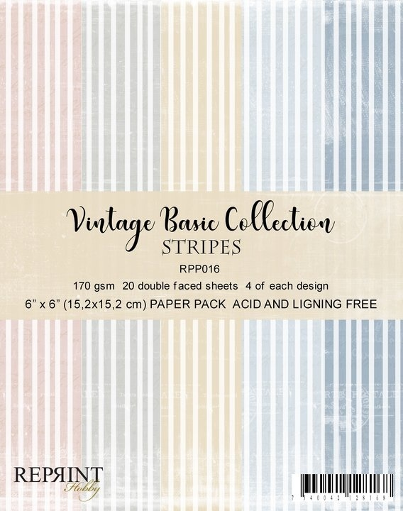 Reprint - Paperpack - Vintage Collection - Stripes - RPP016