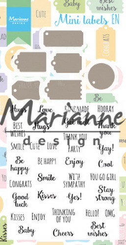 Marianne Design - Clearstamp - Mini labels (ENG) - CS1029