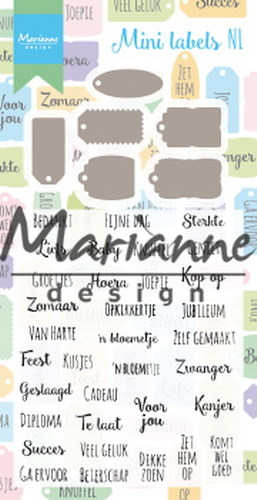 Marianne Design - Clearstamp - Mini labels (NL) - CS1028