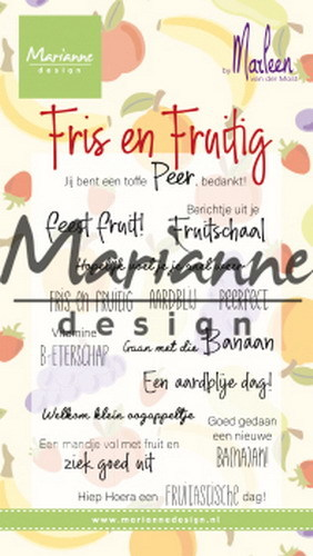 Marianne Design - Clearstamp - Marleen's Fris & Fruitig - CS1030