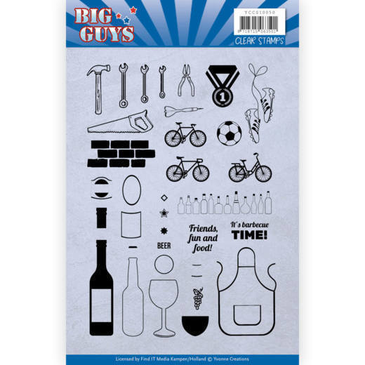 Yvonne Creations - Clearstamp - Big Guys - YCCS10050