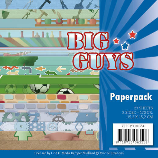 Yvonne Creations - Paperpack - Big Guys - YCPP10024