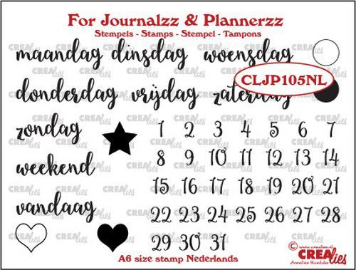 Crealies - Clearstamp - For Journalzz & Plannerzz - Weekdagen - CLJP105NL