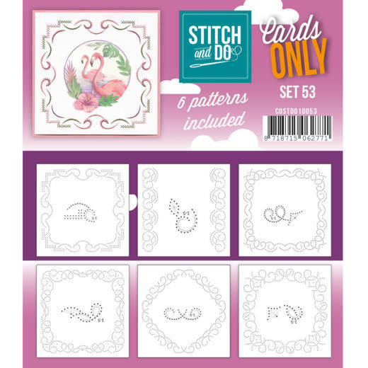 Card Deco - Stitch & Do - Oplegkaarten - Cards only - Set 53 - COSTDO10053