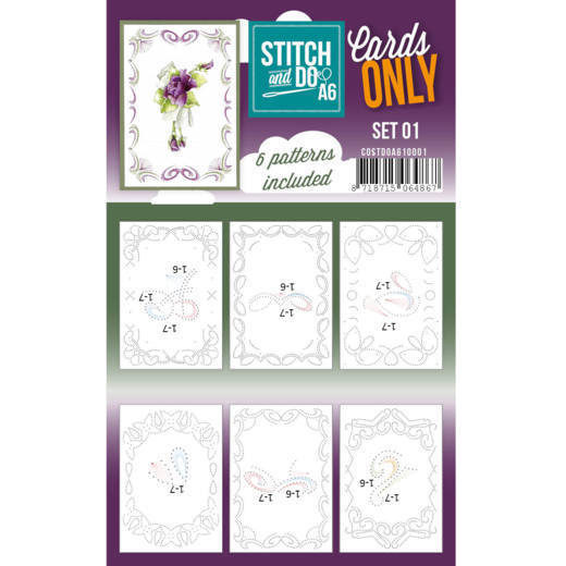 Card Deco - Stitch & Do - Oplegkaarten A6 - Cards only - Set 01 - COSTDOA610001