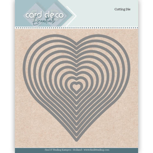 Card Deco - Die - Essentials - Heart - CDECD0024